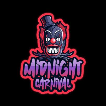 Horror Logo Template with a Carnival Clown 3128e