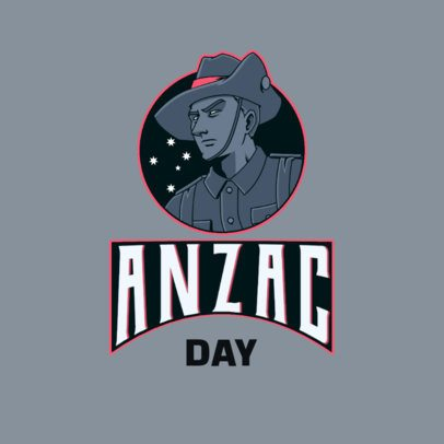 Gaming Logo Generator Featuring a  Member of the Australian and New Zealand Army Corps 3122i