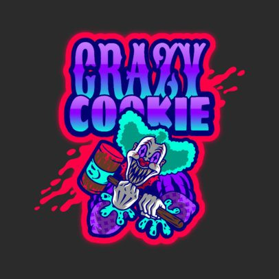 Online Logo Maker Featuring a Crazy-Looking Clown 3128h
