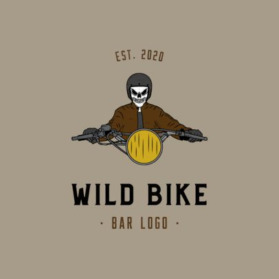 Online Logo Maker for a Motorcycle Bar 776-el1