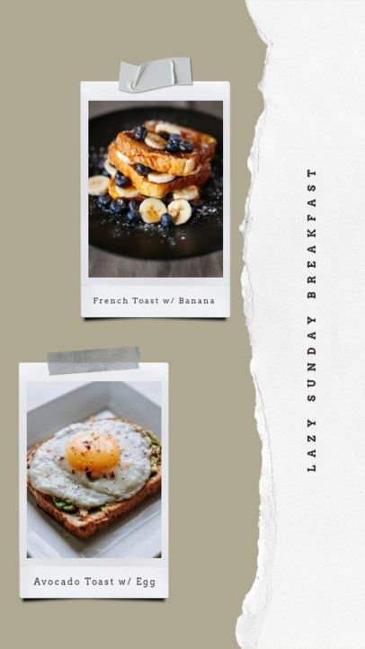 Instagram Story Template Featuring Breakfast Pictures 823-el1