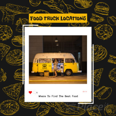 Instagram Video Maker for Foodies Featuring Fast Food Animations 1357