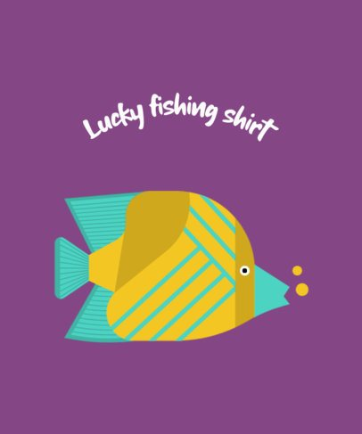 T-Shirt Design Creator for a Lucky Fisherman 755c-el1