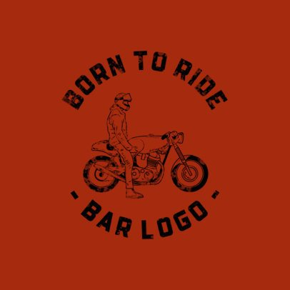 Logo Creator for a Bikers Bar with a Vintage Design 772a-el1