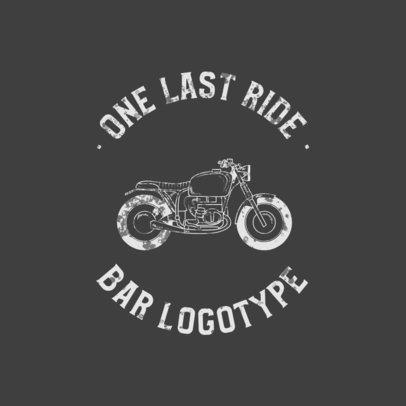 Bikers Bar Logo Maker Featuring a Motorcycle Graphic 772b-el1