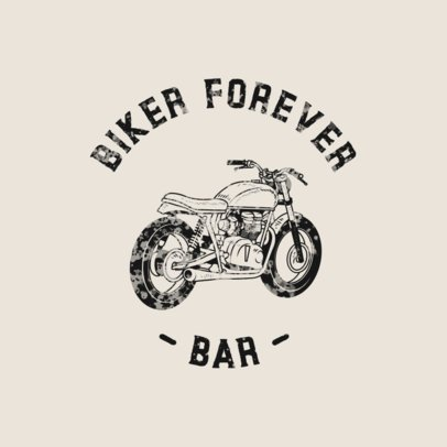 Bikers Bar Logo Generator with a Vintage Motorcycle Icon 772c-el1