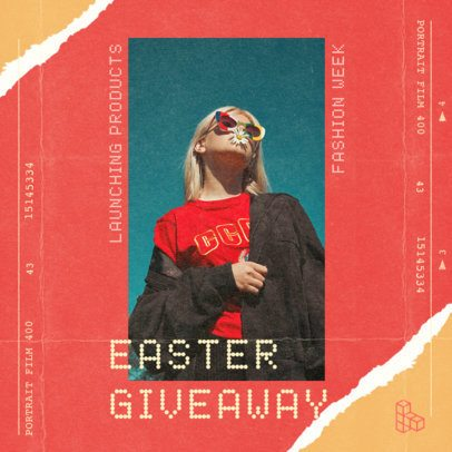 Vintage Instagram Post Maker for an Easter Giveaway 2441a