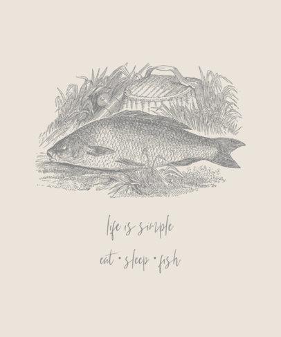 T-Shirt Design Creator Featuring a Fish Drawing 756a-el1