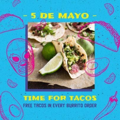 Instagram Post Generator Featuring 5 de Mayo Recipes 2437b