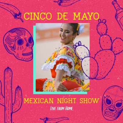 Instagram Post Creator for a 5 de Mayo Concert 2437c