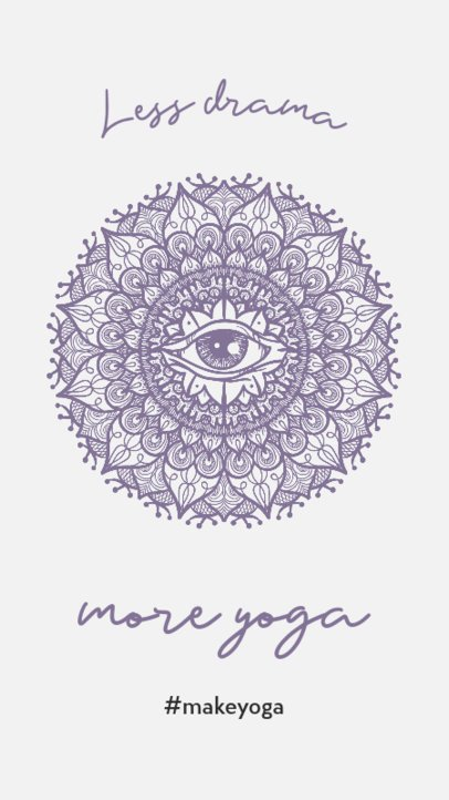 Yoga-Themed Instagram Story Maker with a Mandala Icon 743a-el1