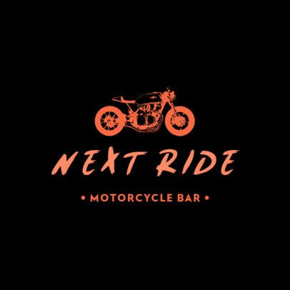 Bikers Bar Logo Template with a Modern Motorcycle Icon 778c-el1