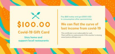 Restaurant Gift Certificate Design Template to Use During Quarantine 2342k-2461