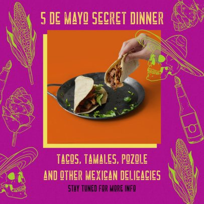 Colorful Instagram Post Template Promoting Mexican Food 2437e
