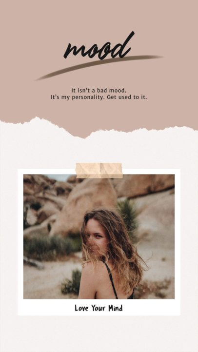 Instagram Story Design Template with Polaroid-Like Frames 931-el1