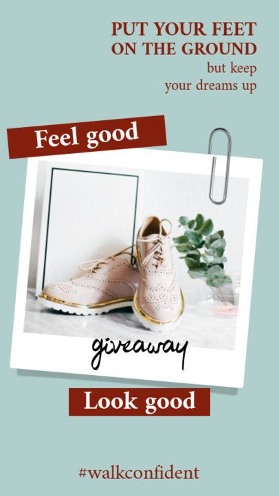 Instagram Story Design Maker for a Fashion Giveaway 921a-el1