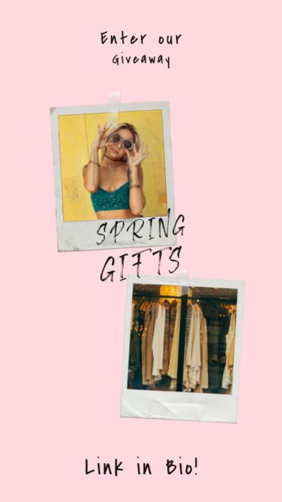 Instagram Story Template For an Apparel Brand's Spring Giveaway 919a-el1