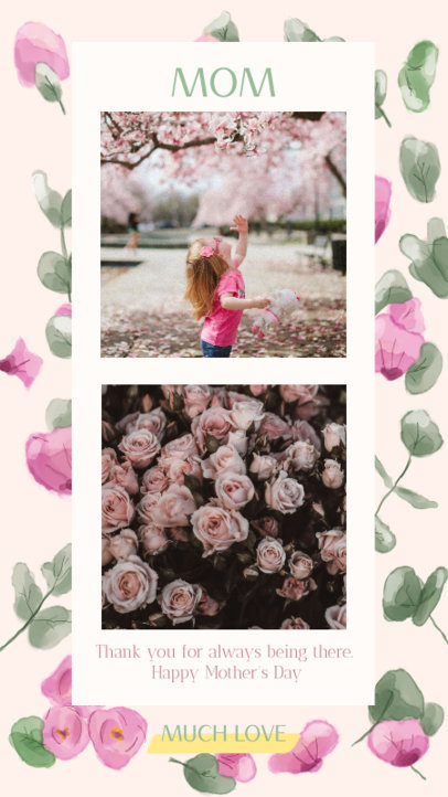 Mother's Day Instagram Story Maker with Floral Backgrounds 2451