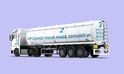 Vehicle Wrap Mockup Featuring a Tanker Truck 3634-el1