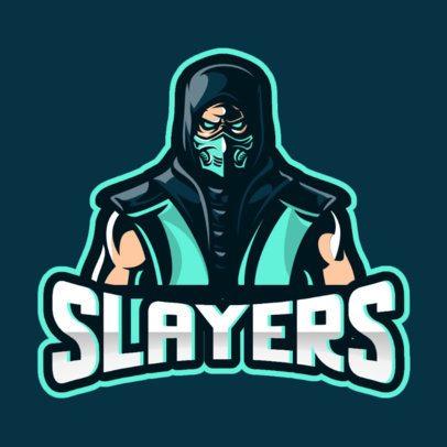 Cool Logo Maker for Gamers Featuring a Masked Assassin Illustration 866c-el1