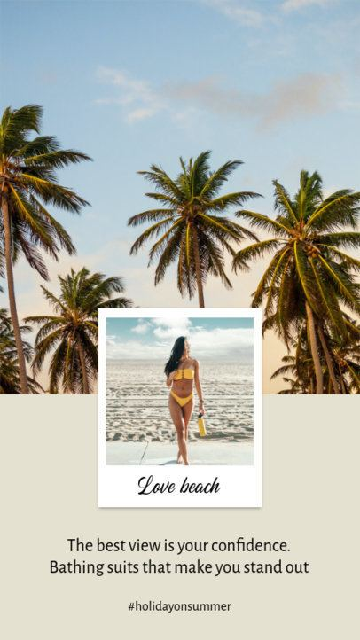 Instagram Story Design Template Featuring a Summer Vibe 925-el1