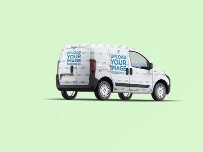 Van Wrap Mockup With a Customizable Background 3620-el1