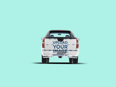 Mockup of a Car Decal on the Back of a Pickup Truck 3603-el1