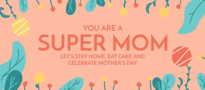 Facebook Cover Design Generator for a Mother's Day Celebration at Home Featuring Plants Graphics 2453h