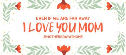 Facebook Cover Design Maker for Mother's Day With a Loving Message 2453i