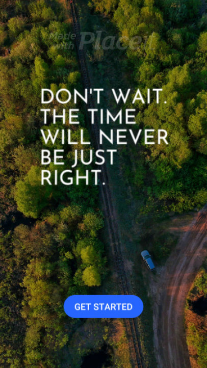 Instagram Story Video Maker Featuring Travel-Related Quotes 1789-el1