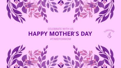 Elegant Mother's Day YouTube Banner Maker with a Floral Design 2454d