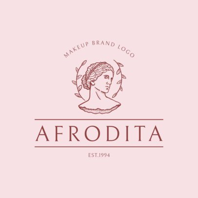 Makeup Brand Logo Creator Featuring an Aphrodite Bust Graphic 3173b