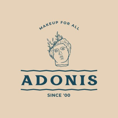 Logo Maker for a Makeup Brand Featuring an Adonis Outline Graphic 3173f