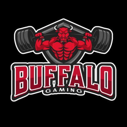Logo Creator Featuring a Strong Buffalo Clipart 865c-el1