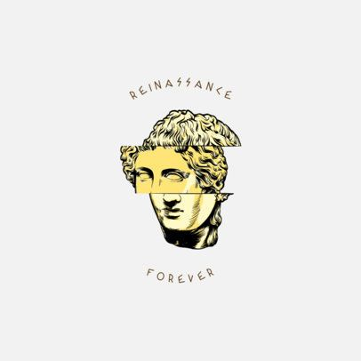 Clothing Brand Logo Maker with a Sliced Renaissance-Style Sculpture 3172g