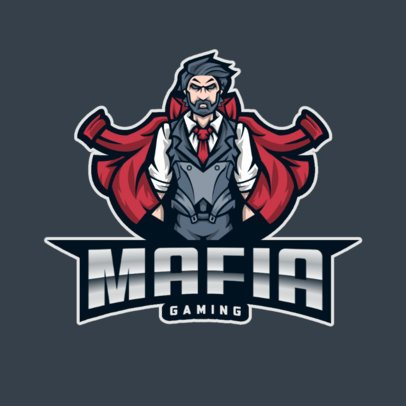 Gaming Logo Maker Featuring a Powerful Mafia Lord 893d-el1