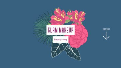 Floral YouTube Banner Creator for a Beauty Vlogger 947a-el1