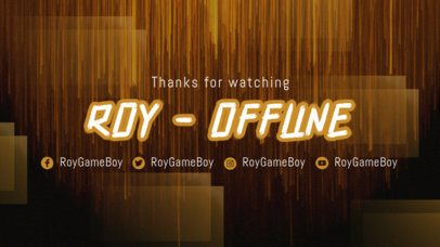 Twitch Offline Banner Template With a Brush-Stroke Typeface 2449a