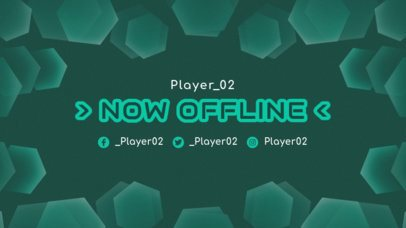 Twitch Offline Banner Generator Featuring a Geometric Abstract Frame 2449b