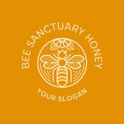 Organic Honey Brand Logo Creator with an Emblem Graphic 3170e