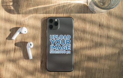 Sticker Mockup Featuring a Phone and Headphones 33608