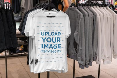 Mockup of a T-Shirt at an Apparel Store 3707-el1