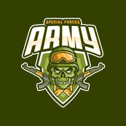 Gaming Logo Creator Featuring a Skull Emblem with AK-47s  981a-el1