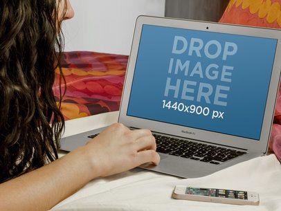 Woman Resting Using MacBook Air