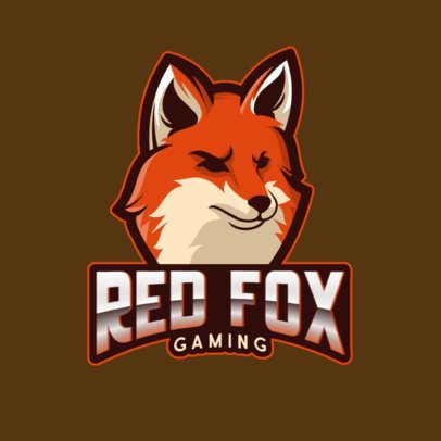 Gaming Logo Generator with an Imposing Red Fox Graphic 1041c-el1