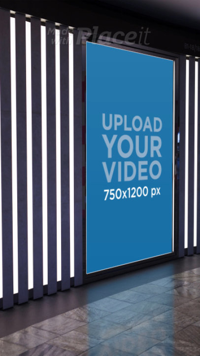 Video of a Vertical Billboard Surrounded by Lights 34380
