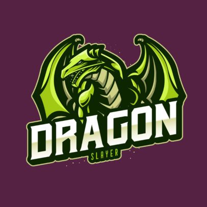 Logo Template for a Gaming Squad Featuring a Robotic Dragon 1069a-el1