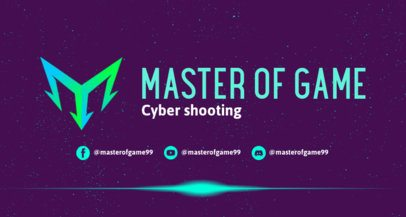 Twitch Banner Maker for Gamers With Futuristic Abstract Graphics 2469o