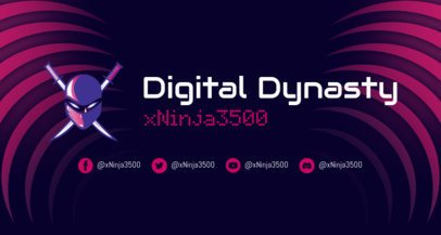 Online Twitch Banner Creator Featuring a Ninja Clipart 2469z
