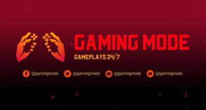 Twitch Banner Generator for Gaming Channels Featuring a Gradient Color Background 2469p